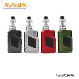 $enCountryForm.capitalKeyWord Australia - Original Tesla P226 Kit 220W P226 Box Mod Power by Dual 18650 Battery v Vaporesso Luxe S