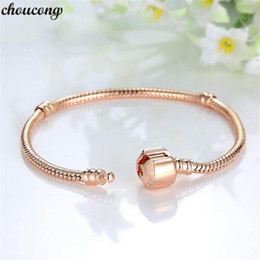 indian bangles accessories Australia - choucong Fashion Snake Chain Bangle Bracelet Rose Gold Color Statement Party Wedding bracelets for women accessory Jewerly