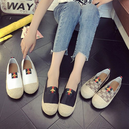 Spring Fall Canvas Shoes Australia - New Fashion Designer Espadrilles Flat Shoes Canvas women Summer Loafers Espadrilles Casual Shoes Size EUR35-40