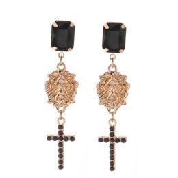 Long Big Pendants Australia - Brandjewelryyy bright glass zinc alloy rhinestone earrings long pendant earrings charm brand Big Brinco Christmas earrings Ornam