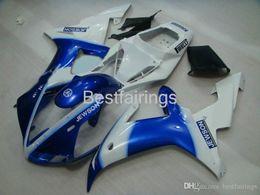 $enCountryForm.capitalKeyWord NZ - 100% Fitment. Injection molding fairing kit for YAMAHA R1 2002 2003 white blue fairings YZF R1 02 03 LK96