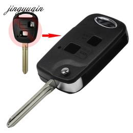 $enCountryForm.capitalKeyWord NZ - Folding Flip 2 Button Remote Key Shell For Toyota Rav4 Avalon Echo Prado Tarago Camry Tarago Toy43   Toy47 Fob Case