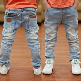 Soft Jeans Australia - Boys Jeans Newest Style Light-color Soft Denim Trousers 2019 Spring Autumn Fashion Kids Jean For Age 3 To 13 Years Old B135 Y19051504