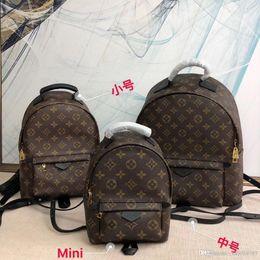 Genuine Leather Rucksack Australia - Top Quality Brand Lovers Backpack M41562 Monogrram Reverse Women Rucksack M41560 Female Knapsack Genuine Leather Sports Backpack M41561
