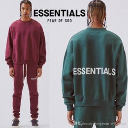 $enCountryForm.capitalKeyWord Australia - Fashion Fear Of God Essential Sweatshirts Burgundy Gray Green Fear Of God Hoodie Casual O-neck Essentials Fear Of God Pullover