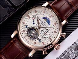 Discount swiss automatic man watches - New Fashion Luxury Swiss Watch leather Tourbillon Watch Automatic Men Wristwatch Men Mechanical steel Watches relogio ma