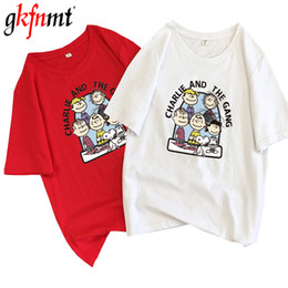 T Tshirts Australia - gkfnmt T Shirt Women 2019 Summer Loose O-Neck Short Sleeve Letters Printed Tops Harajuku Chic Cotton Woman Tshirts Cartoon Pink