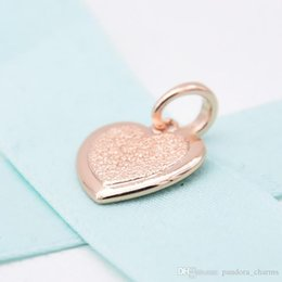 $enCountryForm.capitalKeyWord Australia - 2019 New 925 Sterling Silver Fashion Rose Gold Matte Heart Pendant Fit for Pandora Original Women's Charm Bracelet DIY Jewelry