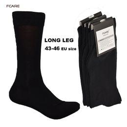 $enCountryForm.capitalKeyWord Australia - Fcare 10pcs=5 Pairs 43, 44, 45, 46 Eu Plus Size Long Leg Business Socks Crew Socks Men Cotton Dress Business Black Socks T219053101
