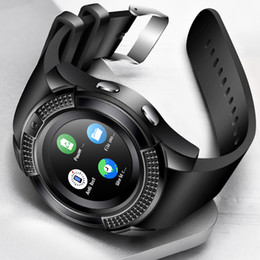 bluetooth windows smart watch 2019 - V8 Smartwatch Bluetooth SmartWatch Touch Screen Wrist Watch with Camera SIM TF Card Slot Sports Smart Watch Kids smart w