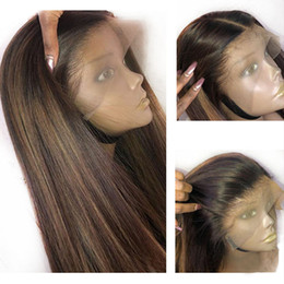 Blonde highlight hair online shopping - Glueless Lace Human Hair Wigs With Highlights Blonde Preuvian Straight Full Lace Wig Remy Hair Pre Plucked With Baby Hair