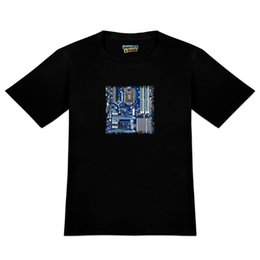 Motherboard Processors UK - Blue Computer Motherboard Processor CPU Men's Novelty T-Shirt 2018 Men'S Lastest Fashion Short Sleeve Printed funny T-Shirt