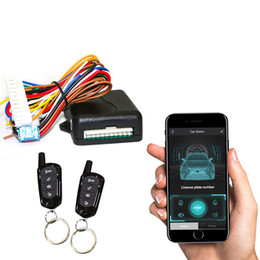 Mobile phone control car alarms remote central locking Automatic Trunk Opening car alarm keyless entry system parts autorun on Sale