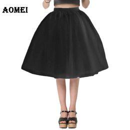 $enCountryForm.capitalKeyWord NZ - Women White Princess Tulle Skirt Knee Length Junior Girls Lolita Cute Plus Size Grunge Jupe Female A Line Tutu Skirts New Puff