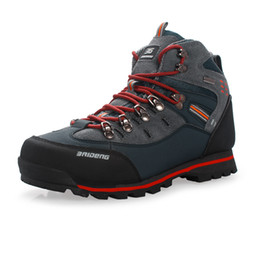 China Men Hiking Shoes Waterproof Leather Shoes Climbing & Fishing Shoe New popular Outdoor Trekking Shoes Breathable Climb Mountain Lace-up cheap mountains shoes suppliers