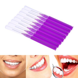 $enCountryForm.capitalKeyWord Australia - 8pcs Tooth Floss Oral Hygiene Dental Floss Soft Plastic Interdental Brush Toothpick Healthy for Teeth Cleaning Oral Care