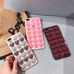 $enCountryForm.capitalKeyWord Australia - Case For iPhone XS XR XS Max X 5 5S SE 6 6S 7 8 Plus Glitter Powder Heart Transparent Soft TPU Phone Back Cover Cases