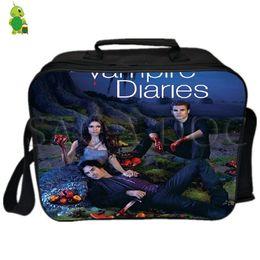 Picnic Ice Packs Australia - The Vampire Diaries Damon Stefan Elena Lunch Bag Thermal Insulation Cooler Bag Ice Pack Women Men Picnic Camping Shoulder