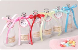 $enCountryForm.capitalKeyWord Australia - Champagne Bottle Transparent Plastic Candy Box with Ribbon Gift Packing Boxes for Wedding Baby Shower Party Favors WB41
