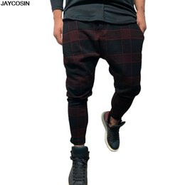 Hot Boys Pants Sports NZ - KLV Men boy summer pants Lattice Gradient Overalls Casual Pocket Sports Work Casual Trouser Pants Hot Sale diy high quality 9415