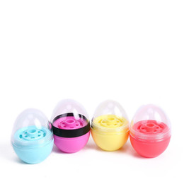 Discount eggs lipstick - 2019 new style egg shape empty LIP BALM Containers Lipstick fashion cool lip spherical Containers circular container