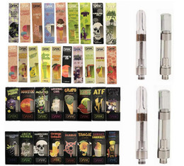 Plastic Packages online shopping - Dank Vapes Cartridge Black Package Cereal Carts ml Ceramic Coil Thread Thick Oil Cartridges Flavors Empty Cartridges