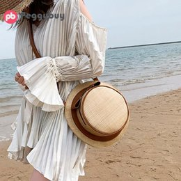 Small rounded hat online shopping - Ladies Casual Hat Shape Straw Shoulder Crossbody Messenger Bag Summer Beach Zipper Women Round Fashion Handbags Small