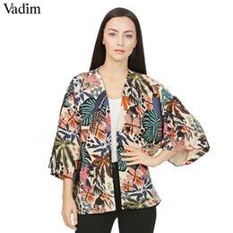 $enCountryForm.capitalKeyWord NZ - Vadim Women Vintage Floral Loose Kimono Shirts Oversized Open Stitch Coat Ladies European Style Casual Fashion Tops Ct1461 Q190509