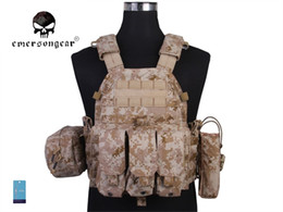 Discount tactical vests military - Emersongear LBT6094A Style Tactical Vest With 3 Pouches Hunting Airsoft Military Combat Gear 500D Nylon AOR1 EM7440E #33