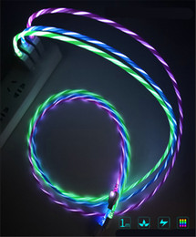 Sync flaSh online shopping - 1M M Visible Luminous LED Light up Micro USB charging data sync cable rapid charging flash cord for Samsung cell phone I7 X car