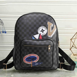 Discount men leather messenger bags black - AAA+ Luxury Brand Men And Women High Quality Leather Bags Brand Designer Pack Bag Backpacks Ladies Fashion Backpack