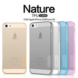 69fb544033c NILLKIN para el iPhone 5s Se Funda protectora ultrafina transparente de  silicona suave TPU para iPhone SE 5 5S Teléfono Capa cubiertas posteriores