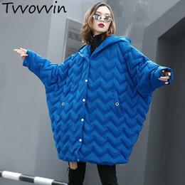 $enCountryForm.capitalKeyWord NZ - 2019 New Spring Hooded Long Batwing Sleeve Large Size Cotton-padded Warm Coat Women Parkas Fashion Tide E237