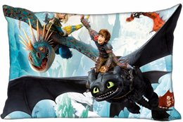 zipper train case Australia - Custom How To Train Your Dragon Pillow Covers Cases Rectangle Pillowcases zipper 40x60cm (One Side Print)180516-21-10 Pillow Case