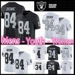 RaideR white online shopping - 84 Antonio Brown Raiders jersey Mens Youth Women Kid s New Oakland Raiders Color Rush bLack WHITE Brown Football Jerseys