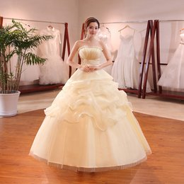 $enCountryForm.capitalKeyWord Australia - Cheap Floor-Length Wedding Dresses Ball Gown Wed Dress Church Castle Princess Dream Backless Bridal Gowns Strapless Capped Wed Dresses