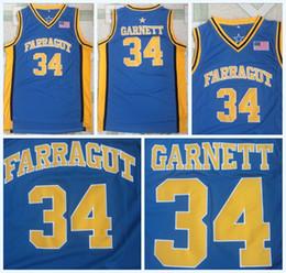 School Basketball Jerseys Australia - High School 34 KEVIN GARNETT Jersey Blue Team Farragut Kevin Garnett High Qualit100% Stitched College Basketball Jerseys S-3XL Fast Shipping