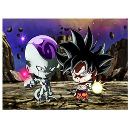 Discount dragon ball z cartoon gifts wholesale diamond painting nouveaute 2019 new diamond embroidery Dragon Ball Z bead 3d picture of rhinestones Mosaic gif