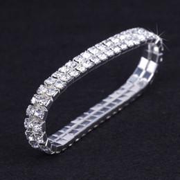 $enCountryForm.capitalKeyWord Australia - racelet stretch 2017 Sale New Link Chain Tension Setting Trendy Stretch Bracelet Bangle Bling Rhinestone Bead Diamante Bridal Accessory 2...