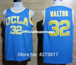 cd44f3495a12 Cheap 32 Bill Walton UCLA Bruins College Basketball Jersey Embroidery Logos  Blue Stitched Jerseys Ncaa