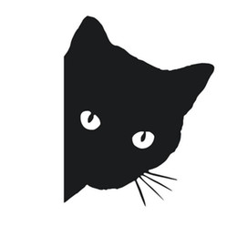 Cute Cat deCals online shopping - 1 PC Cute Cartoon Funny Car Stickers Black White Cats Vinyl Car Window Decal