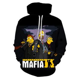 Wholesale funny anime hoodies online – oversize New Fashion Hoodies Unisex Funny Simspon Cosplay Sweatshirt Anime Sinspons D Print Men Women Hoodie Hip Hop Cartoon D Pullover