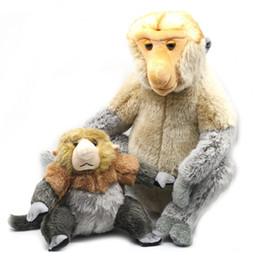 doll monkeys 2019 - Malaysia Tourism Year Plush Doll Proboscis Monkey Mascot Nasalis Larvatus Monkey Toy Plush Toy Doll Large Cartoon cheap