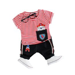 $enCountryForm.capitalKeyWord UK - Boys Clothes Set Short Summer For 1-3 Years New Fashion Style Striped Cotton Baby Clothes High Quality Infant Children