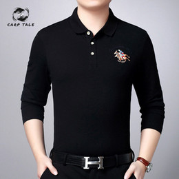 $enCountryForm.capitalKeyWord Australia - Explosion models spring and autumn men's long-sleeved solid color embroidered lapel 2019 male middle-aged shirt