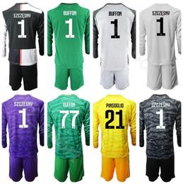 Soccer goalie jerSey online shopping - Goalkeeper Soccer Long Sleeve Gianluigi Buffon Jersey Goalie Set Mattia Perin Wojciech Szczesny Carlo Pinsoglio Football Shirt Kits