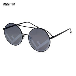 round shaped sun glasses Canada - eoome Fashion designer sunglasses wome Sun Glass Oversize Round Shape High Qaulity Hot Selling With Case Y200420