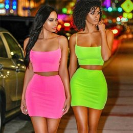 Wholesale bandage piece skirt set for sale - Group buy Women Set Sexy Piece Outfits Women Bodycon Dress Crop Top and Skirt Set Bandage Dresses Party Clothes