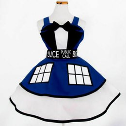 Wholesale lolita cosplay xl resale online - Doctor Who Dress TARDIS Suit Cosplay Pinafore Party Lolita costume