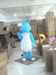 Dinosaur Suit Adults Australia - newFactory direct sale Blue The Dinosaur Dragon Mascot Costume For Adults Christmas Halloween Outfit Fancy Dress Suit Free Shipping